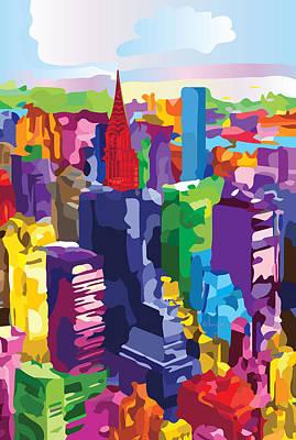 New York, Manhattan Poster by Inge Lewis