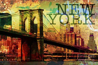 New York Poster by Maria Arango