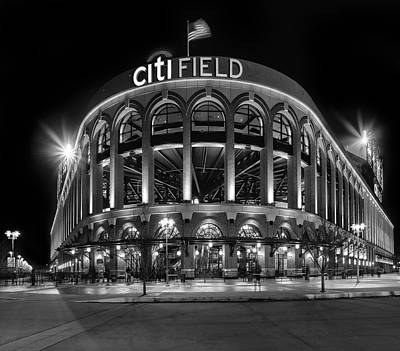 New York Mets Citi Field Bw Poster