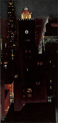 New York, Night, Poster by Georgia O'keeffe