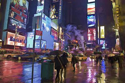 New York Rain Poster by Dennis Wickerink