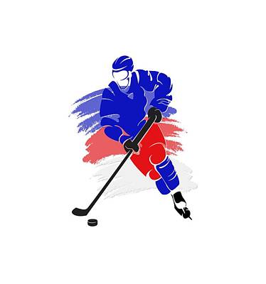 New York Rangers Player Shirt Poster by Joe Hamilton