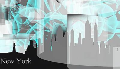 New York Skyline 4 Poster
