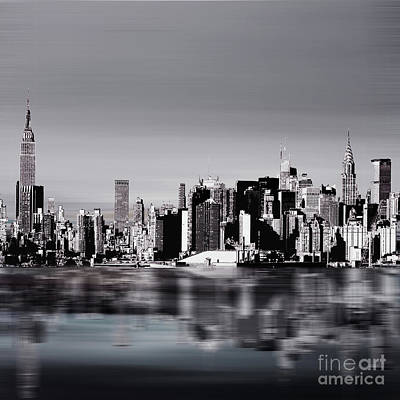New York Skylines 04 Poster by Gull G