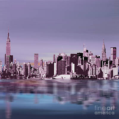 New York Skylines 043 Poster by Gull G