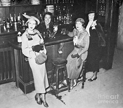 New York Society Women Enjoy Their First Legal Drink After The Repeal Of The Volstead Act In 1933 Poster by American School