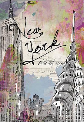 New York State Of Mind Poster by Jodi Pedri