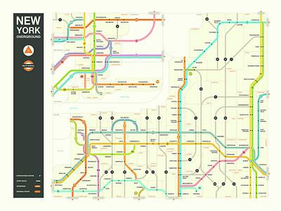 New York State Overground Poster