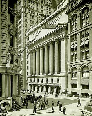 New York Stock Exchange Under Construction 1903 Poster by Jon Neidert