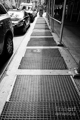 New York Subway Ventilation Grills In Sidewalk City Usa Poster