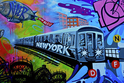 New York Train Poster by Joan Reese