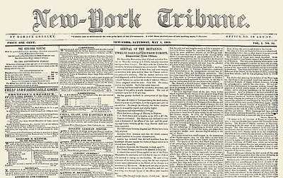 New-york Tribune, 1841 Poster by Granger