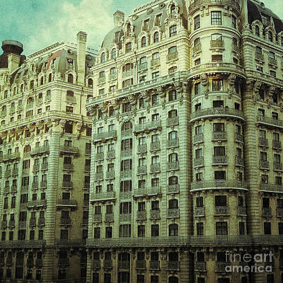 New York Upper West Side Apartment Building Poster