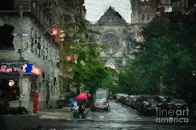 New York Upper West Side Scene Poster by Amy Cicconi
