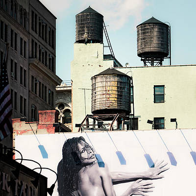 Poster featuring the photograph New York Water Towers 15 by Gary Heller
