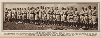 Poster featuring the photograph New York Yankees 1916 by Daniel Hagerman