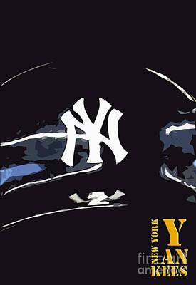 New York Yankees Black Poster