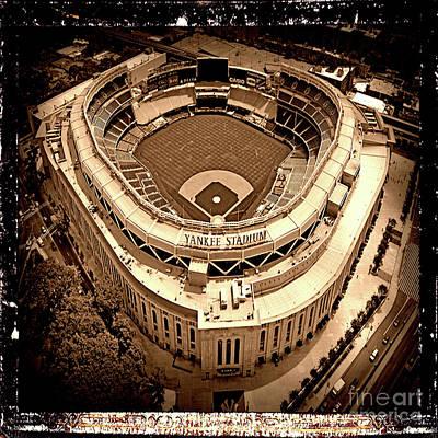 New York Yankees Stadium - Antiqued Series  Poster