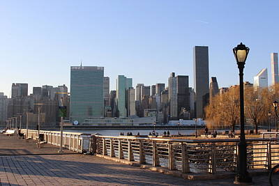 New York's Skyline - A View From Gantry Plaza State Park Poster