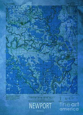 Newport 1935 Map Poster