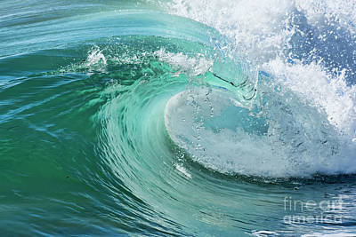 Poster featuring the photograph Newport Beach Wave Curl by Eddie Yerkish