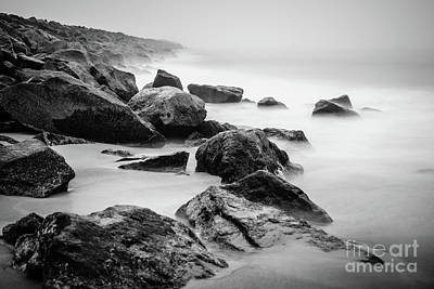 Newport Beach Wedge Black And White Photo Poster by Paul Velgos