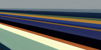 Newport Dunes/ Coastline II Poster by Mark Santistevan