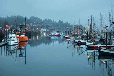 Newport Fishing Boats Poster by Jon Glaser
