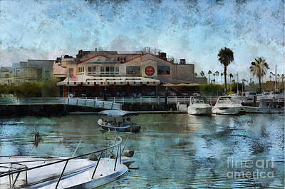 Newport Harbor With Duffy Poster by Gabe Aguilar
