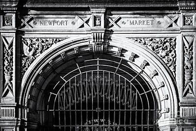 Newport Market Entrance Mono Poster by Steve Purnell