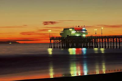 Newport Pier After Sunset Poster