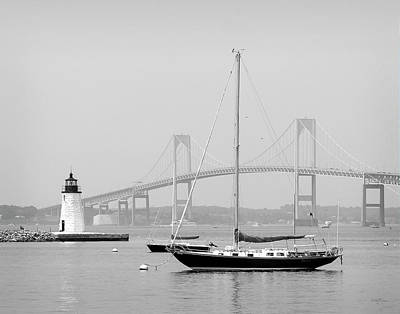 Newport, Rhode Island Serene Harbor Scene Poster