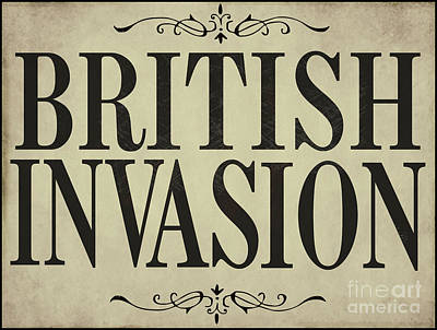Newspaper Headline British Invasion Poster by Mindy Sommers