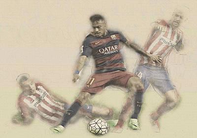 Neymar Fight For The Bal Poster