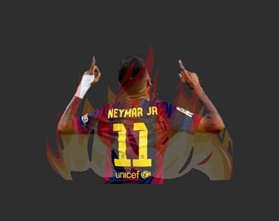 Neymar Poster by Vincenzo Basile