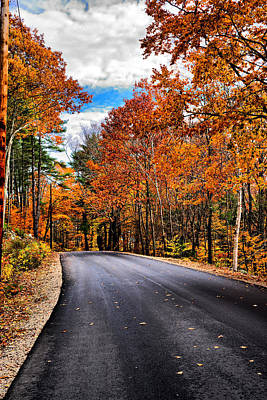 Nh Autumn Road 1 Poster by Edward Myers