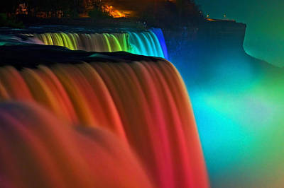 Niagara Falls At Night Poster