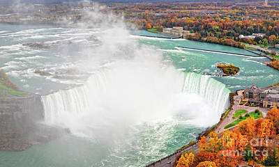 Niagara Falls Autumn Poster by Charline Xia