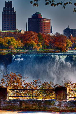 Poster featuring the photograph Niagara Falls From Ontario by Don Nieman