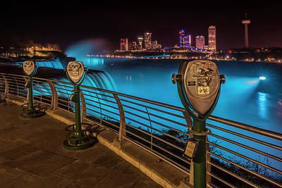 Niagara Falls Idyllic Nightscape Poster