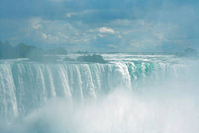 Niagara Falls In The Blue Mist Poster by Ben and Raisa Gertsberg