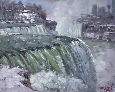 Niagara Falls In Winter  Poster by Ylli Haruni