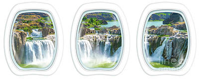 Niagara Falls Porthole Windows Poster