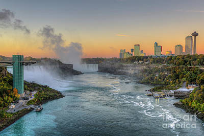 Niagara Falls Pre-sunrise IIi Poster by Clarence Holmes
