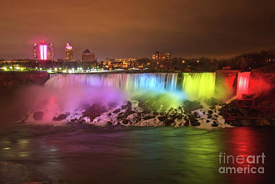 Niagara Falls Rainbow Poster