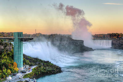 Niagara Falls Sunrise Light I Poster by Clarence Holmes