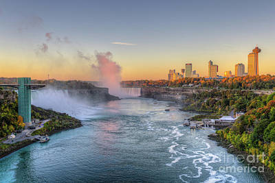 Niagara Falls Sunrise Light IIi Poster by Clarence Holmes
