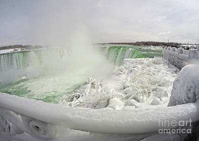 Niagara Falls Winter Crystal Ice Formation Poster by Charline Xia
