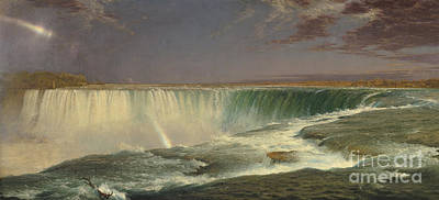Niagara Poster by Frederic Edwin Church