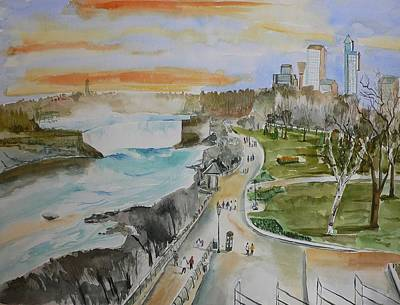Poster featuring the painting Niagara In Spring by Geeta Biswas